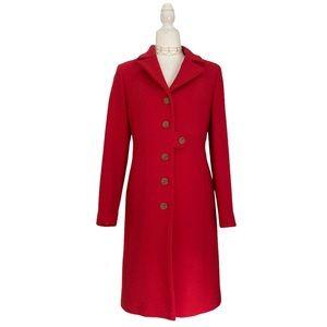 J. Crew Tailored Wool Thinsulate Coat Hibiscus